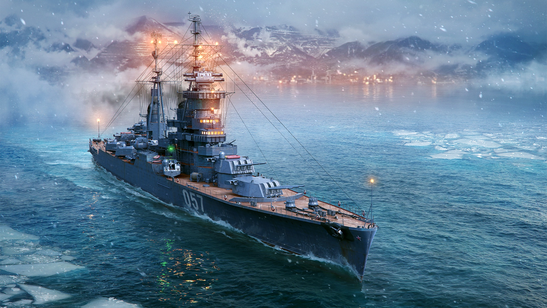Download Wallpaper World Of Warships Artillery Cruiser Light