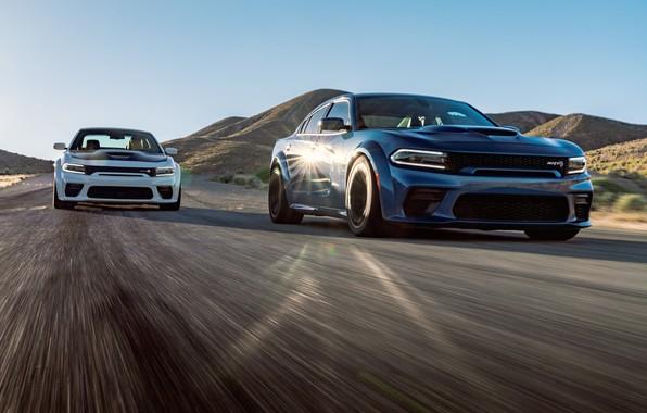 Picture Road, Speed, Asphalt, Dodge, Charger, Hellcat, SRT, 2020, Dodge Charger SRT, Hellcat widebody