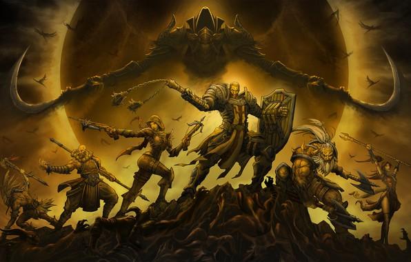 Picture The game, Angel, Style, Battle, Blizzard, Art, Art, Style, Fiction, The sorcerer, Fiction, Diablo III, …
