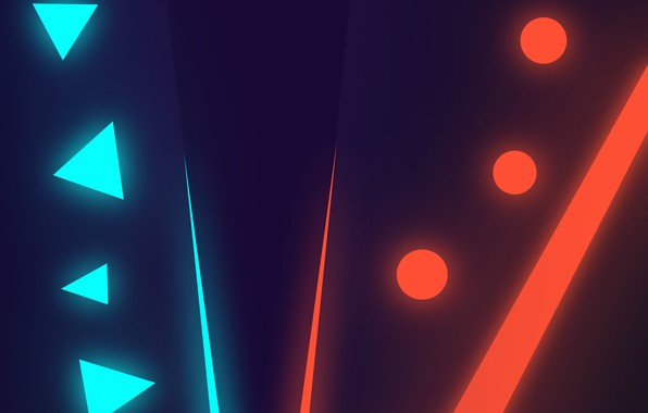 Picture line, circles, triangles, neon, red vs blue, purple gradient, blue neon, red and blue neon, …