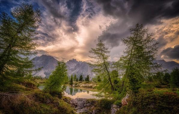 Picture landscape, mountains, clouds, nature