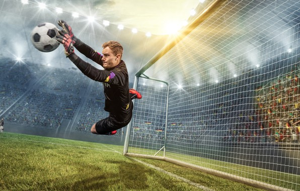Picture photo, The ball, Sport, Jump, Football, Male, Goalkeeper