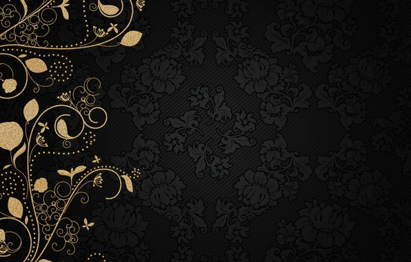Picture background, gold, pattern, vintage