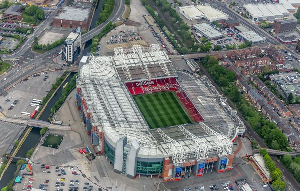 Picture football, stadium, Manchester United, Manchester