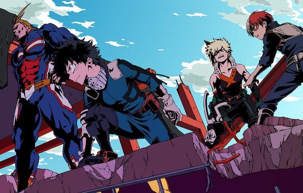 Picture heroes, characters, Boku No Hero Academy, My heroic academia