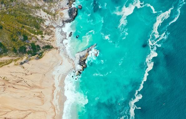 Picture sand, sea, wave, landscape, nature, shore, vegetation, waves, sea, landscape, coast, nature, the view from …