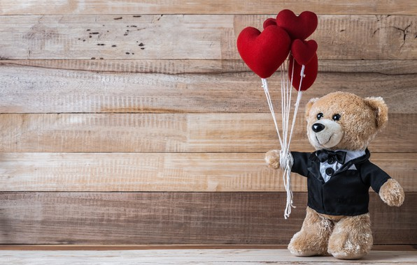 Picture love, toy, heart, bear, hearts, red, love, bear, heart, wood, romantic, teddy, valentine's day, gift, ...