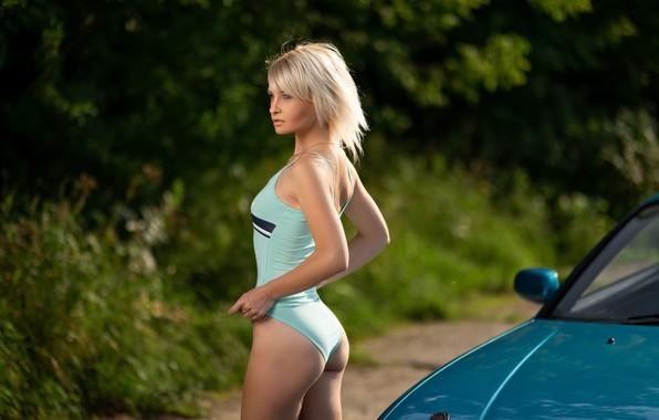 Picture swimsuit, girl, pose, figure, Ilya Pistols