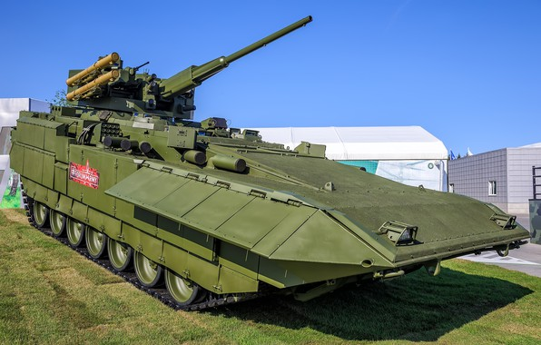 """Picture armored combat vehicle, heavy infantry fighting vehicle, combat module АУ220М, IFV T-15 """"Barbaris"""""""