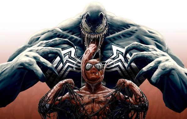 Picture art, comic, Spider-man, MARVEL, Spider-Man, Venom, Venom