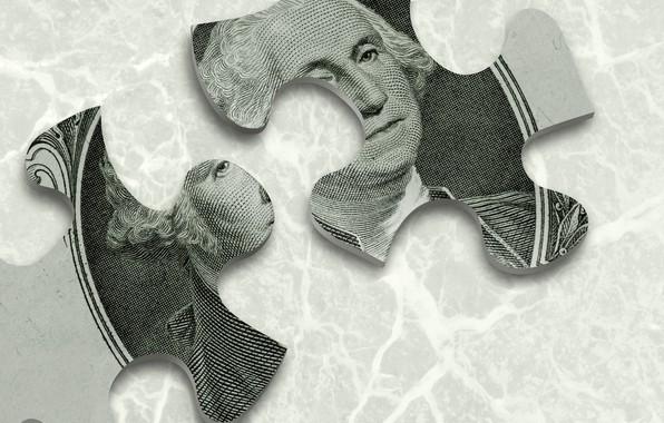 Picture money, dollar, puzzle