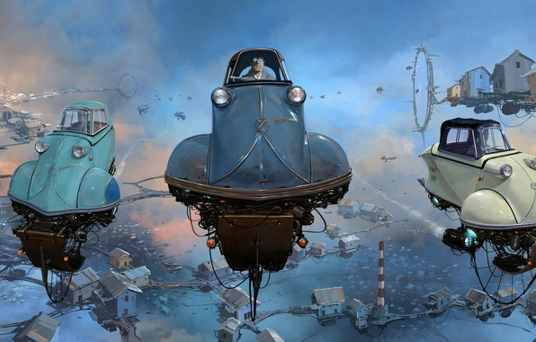 Picture The sky, Auto, Figure, Machine, The world, Car, Sky, Car, Art, Art, Auto, Fiction, Machine, ...