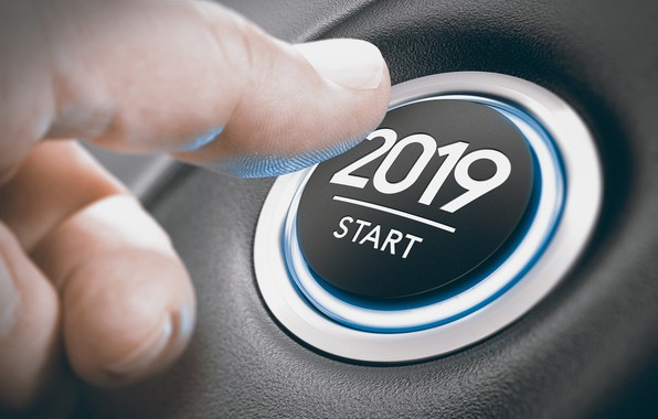 Picture button, New year, 2019