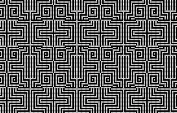 Picture pattern, white, black, cell