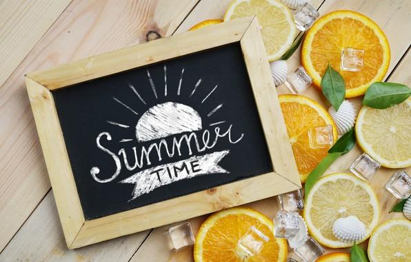 Picture lemon, orange, ice, lemon, ice, summer, fruit, fruit, orange, citrus, hello, slice