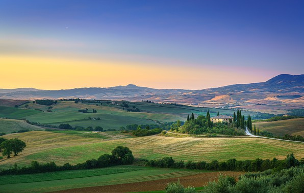 Picture hills, field, Tuscany, Italy, Tuscany, San Quirico d'orcia