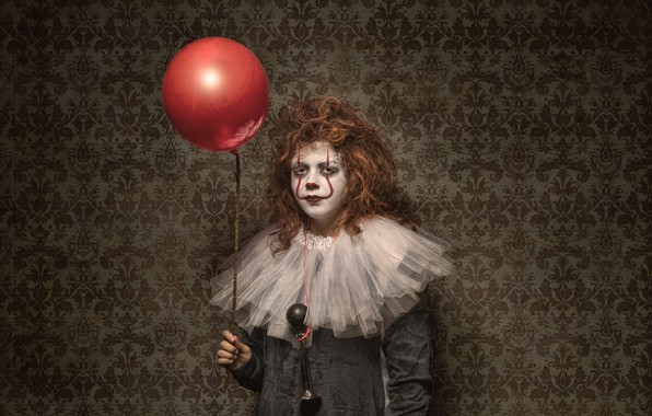 Picture ball, girl, halloween