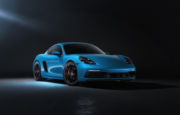 Picture Auto, Blue, Porsche, Machine, Cayman, Blue, Car, Rendering, Transport & Vehicles, Sergey Poltavskiy, by Sergey …