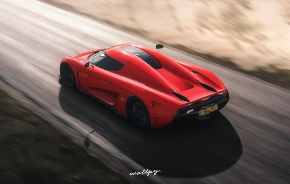 Picture Koenigsegg, Microsoft, game, 2018, Regera, Forza Horizon 4, by Wallpy