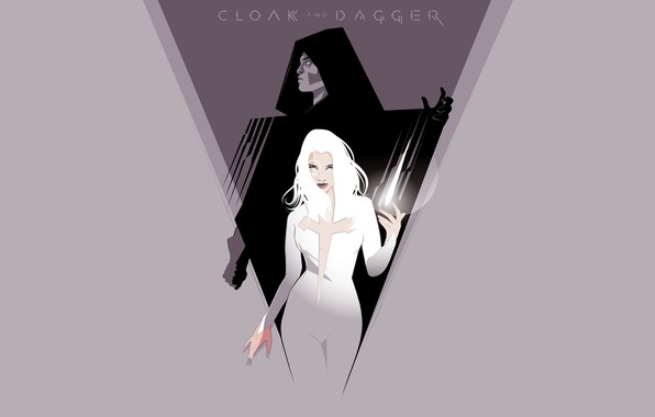 Picture Minimalism, Background, Art, Marvel, Marvel Comics, Comics, Cloak, Dagger, Cloak and Dagger, Cloak & Dagger, …
