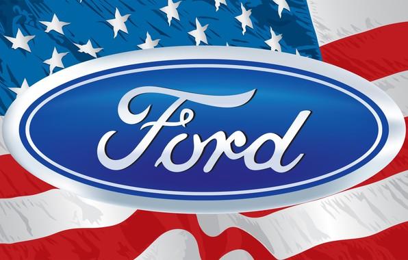 Picture flag, logo, emblem, logo, America, ford, Ford, stars, america, rander