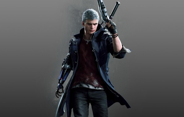 Picture the game, prosthesis, character, Game, Capcom, Nero, Devil may cry 5, gray hair, Devil May …
