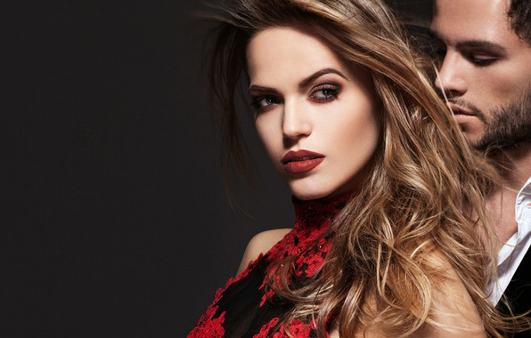 Picture look, girl, love, passion, hair, makeup, pair, male