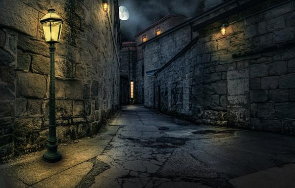 Picture street, home, lantern