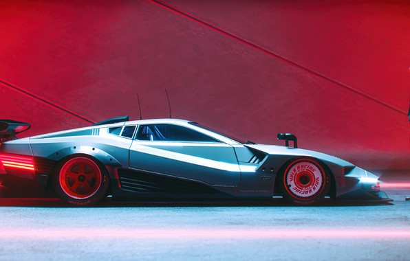 Picture auto, man, cyber, cyberpunk 2077, Quadra 2077