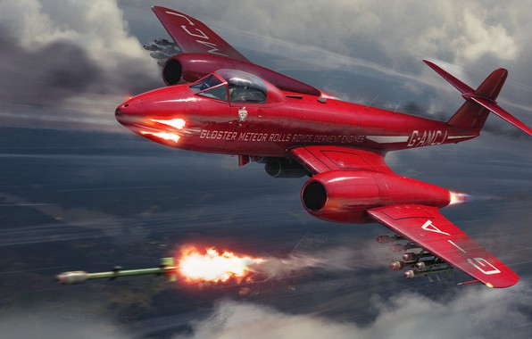Picture Red, The game, The plane, Flight, Fighter, Rocket, Art, Aviation, BBC, War machine, Military equipment, …