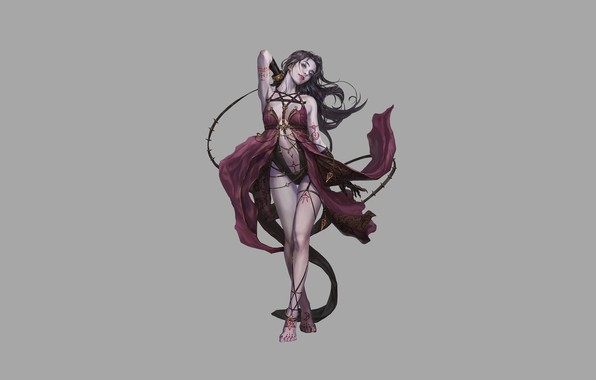 Picture Girl, Fantasy, Art, Style, Vampire, Background, Minimalism, Figure, Character, jee wook Choi