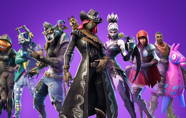 Picture background, group, characters, Fortnite