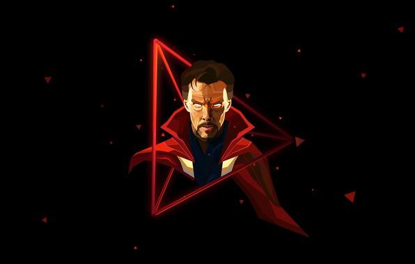Picture art, black background, comic, MARVEL, Doctor Strange, Doctor Strange