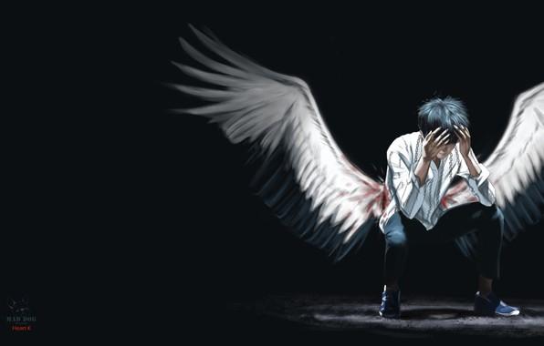 Picture wings, angel, art, 青春.Youth, Heart K