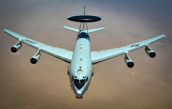 Picture The plane, USAF, AWACS, E-3 Sentry, Refueling