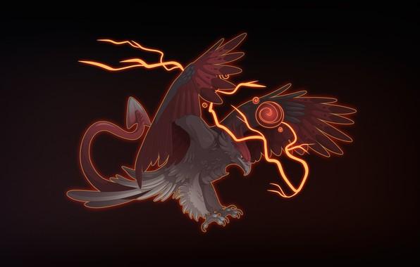 Picture Bird, Lightning, Eagle, Background, Fantasy, Mythology, Art, Fiction, Characters, Monsters, Creatures, Mythology, Candice Sciortino, by …