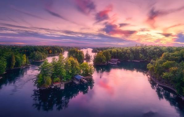 Picture Landscape, Autumn, Ontario, 1000 Islands