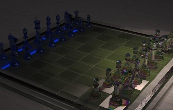 Picture glass, chess, art, Board, ahmet bozdag, chess 3d work
