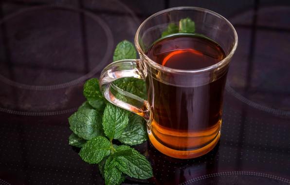 Picture tea, mug, mint