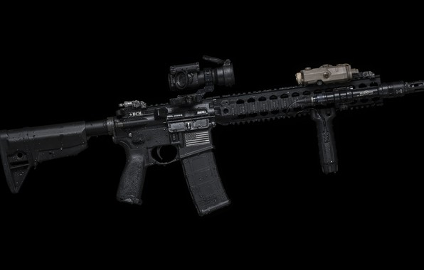 Picture drops, weapons, background, handle, AR-15, a semi-automatic rifle