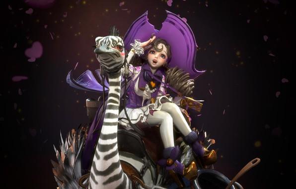 Picture anime, art, witch, jun geun choi, Little witch(꼬마 마녀)