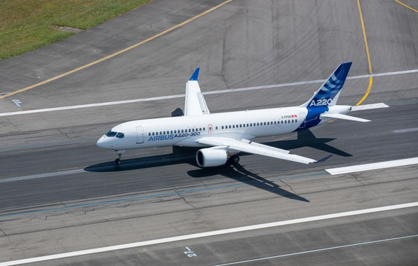Picture Landing, Airbus, WFP, Airliner, Airbus A220, A220, Bombardier CSeries
