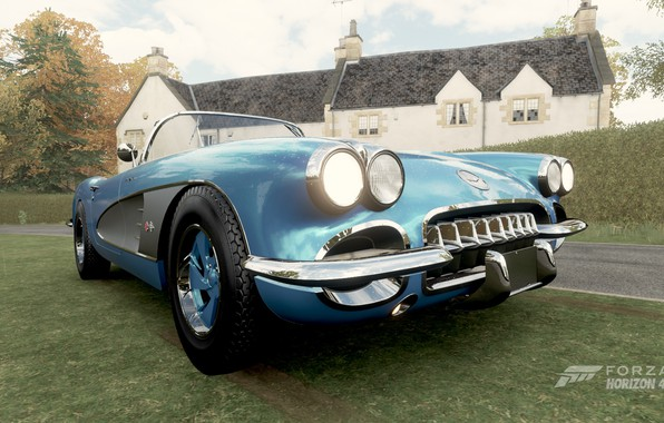 Picture Corvette, Blue, Forza Horizon 4