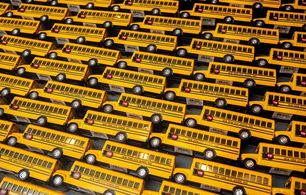 Picture background, toys, buses