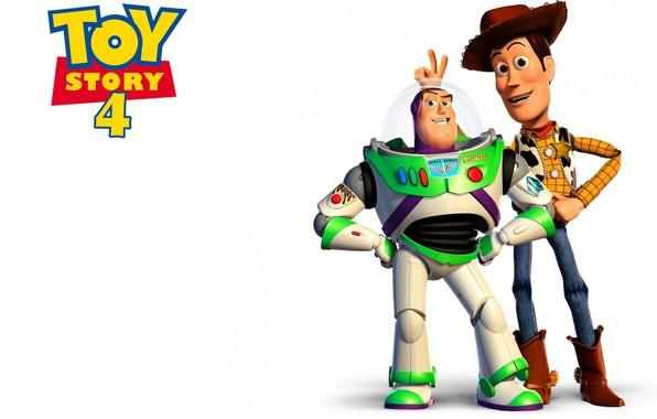 Picture animation, movie, toys, film, friends, white background, Toy Story, simple background, joke, Woody, Buzz Lightyear, …