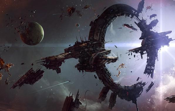 Picture space, stars, light, space, attack, planet, explosions, battle, destruction, space, light, stars, explosions, planet, battle, …