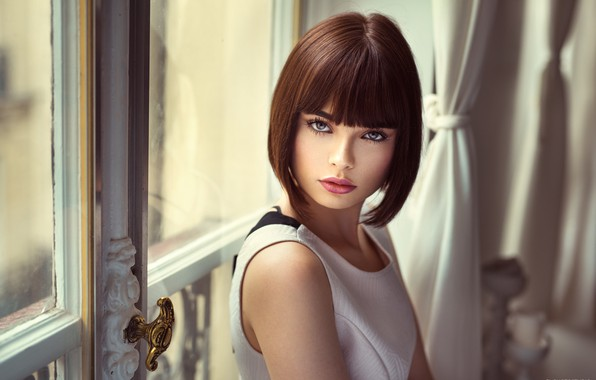 Picture eyes, look, model, Girl, beautiful, hairstyle, Lods Franck, Marie Grippon