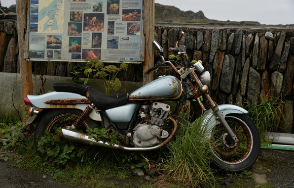 Picture background, motorcycle, Old Harley