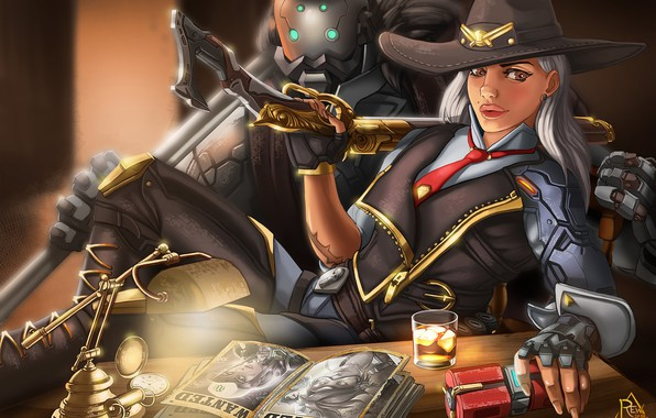 Picture Girl, Disaster, Face, Eyes, Blizzard, Art, Game, Ashe, Overwatch, Calamity, BOB, Game Art, REW, by …