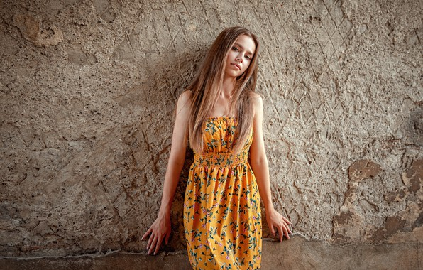 Picture wall, hair, Girl, hands, dress, Oliver Gibbs